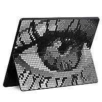 igsticker Surface Pro X 専用スキンシール サーフェス プロ エックス ノートブック ノートパソコン カバー ケース フィルム ステッカー アクセサリー 保護 006958 クール ドット 瞳 目