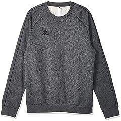 Adidas CORE18 SW Top Sudadera, Hombre, Gris (Gris/Negro), L