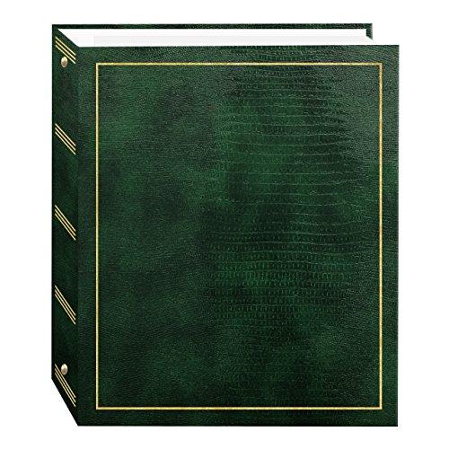 Pioneer Photo Album 100Pagine In Finta Pelle Con Oro Timbrato Cover 3-Ring Magnetico Album Tradizionale Hunter Green
