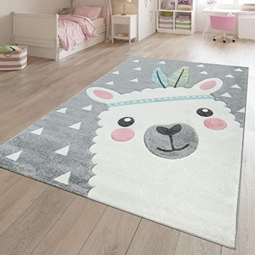 TT Home - Alfombra infantil (160 x 230 cm), diseño de alpaca...