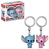 Funko 36370 Pocket POP llavero paquete de 2: Lilo & Stitch: Stitch & Angel, Multi