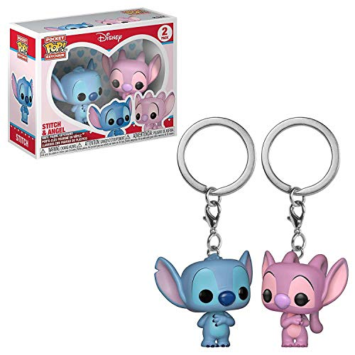 Funko 36370 Pocket Pop Schlüsselanhänger 2er-Pack: Lilo & Stitch: Stitch & Angel, Mehrfarbig