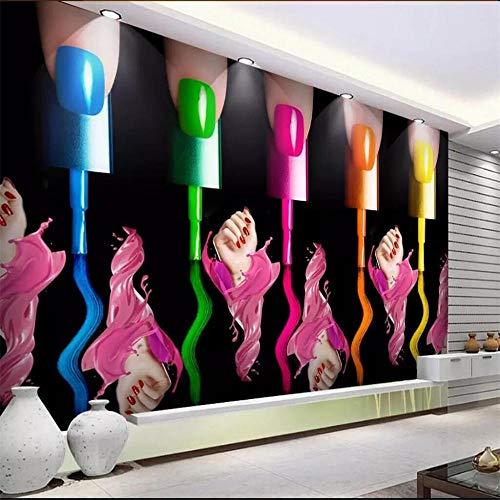 Fotobehang Muur Muralsnail Art Nagel Poolse Arm Cosmetische Winkel Gereedschap Muur Fabrikanten Groothandel Wallpaper Mural Aangepaste foto Muur About 250*175cm 2 stripes
