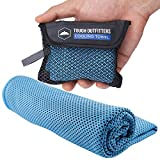 Cooling Towel - Neck Cooler Wrap for Summer Heat - Cool Bandana Scarf for Hot Weather Sports - Ice Towel Sweat Rag for Golf, Gym, Yoga, Workout, Running - Instant Cold Temperature Snap Cloth - UPF 50