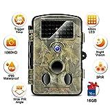 crenova Caméra animalière HD 12MP 1080P avec grand angle de 120 °, plage de détection de 65 pieds pour la surveillance de la faune, la sécurité du domicile et la chasse pour garçon