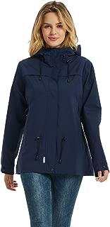 TOKY Women's rain Jacket Hood Waterproof Raincoat Shell Windbreaker Lightweight
