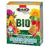 Bioki Solfato di Rame Concime Ce, Altamente solubile per Agricoltura Biologica