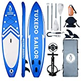 Tuxedo Sailor Inflatable 11'×32'×6' SUP with Kayak Conversion Kits Everything Included with Stand...