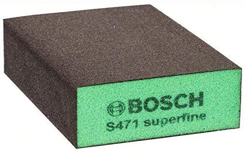 Bosch Professional Schleifschwamm S471 Superfein (Holz, Kunstoff und Metall, 69 x 97 x 26 mm, Zubehör Handschleifen)