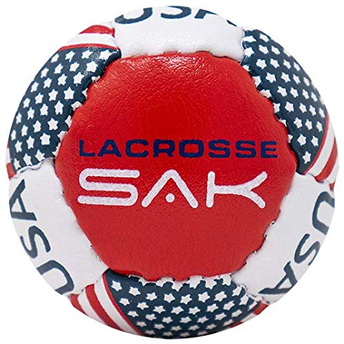 Lacrosse Sak Soft Practice Lacrosse Balls - Same Weight & Size as a Regulation Lacrosse Balls, Great for Indoor & Outdoor Practices, Less Bounce & Minimal Rebounds - American Flag, 2 Pack