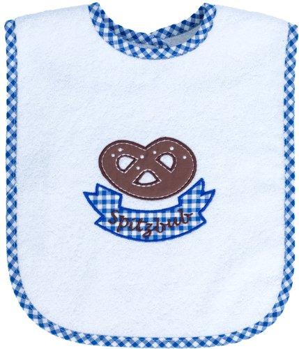 Lätzchen Baby für Jungen, mit Motiv Spitzbub und Brezel, aus 100% Baumwolle, von Smithy