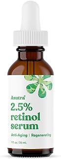 ASUTRA Anti-Aging 2.5% Retinol Serum, 1 fl oz | Ultra Potent & Helps Minimize Signs of Aging | Plump Up Skin & Decrease Po...