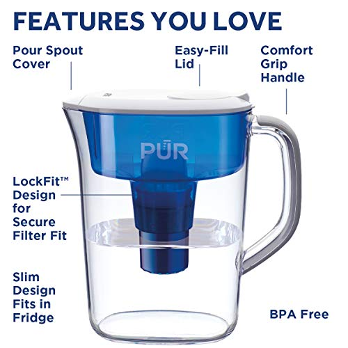 PUR PPT700W 7 Cup Basic Water Filtration Pitcher