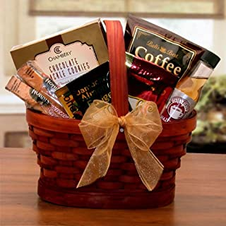The Mini Coffee Gift Basket - Coffee and Treats for Him and Her