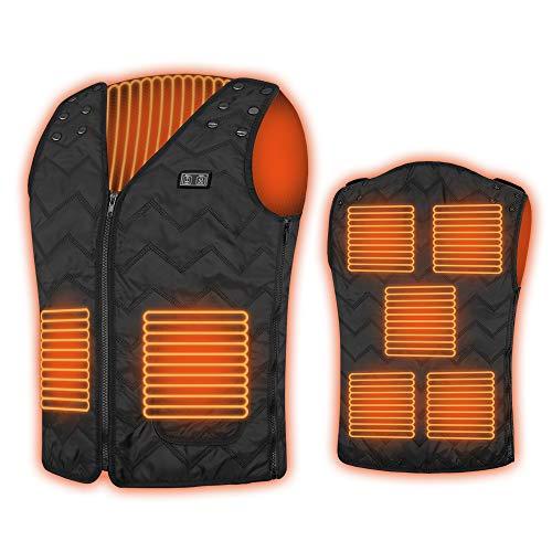 NIGOE Chaleco Térmico Electrico para Hombre y Mujer,Chaqueta Calefactable para Senderismo,Pescar,Ciclismo