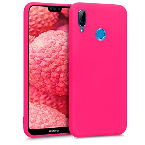 kwmobile Cover Compatibile con Huawei P20 Lite - Custodia in Silicone TPU - Backcover Protezione Posteriore- Rosa Shocking