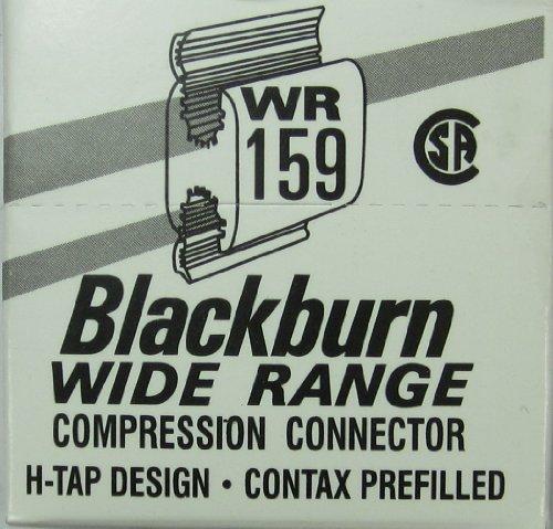 Box of (25) Blackburn WR159 #1 Aluminum H Tap Compression Connectors