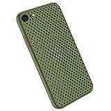 Desconocido Funda Compatible con Silicone Case para iPhone 6 Plus, Carcasa de Silicona Suave Antichoque Bumper Anti-Sobrecalentamiento Case para iPhone 6S Plus, Verde