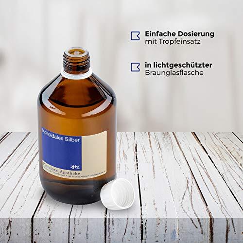 Kolloidales Silber 100ppm aus Apotheken-Herstellung - 100% natürliches, kolloidales Silberwasser, ohne chemische Zusatzstoffe (100 ml) - 5