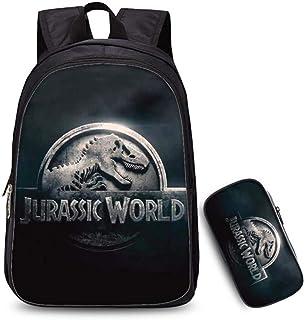 Infantil Kids 2set - Dinosaurio Kids School Bolsa De La Caja De Lápiz 3D + Bolsa Mochila Impreso + Mensajero Combinación Regalos De Temporada Escolar Paquete P