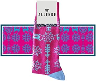 Allende   Par de Calcetines de diseño 'Ximéri' artesanal, unisex maquilado en Puebla