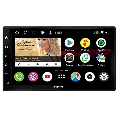 ATOTO S8 Premium S8G2B73M,Armaturenbrett eingebauten Video, Android-Autoradio GPS,Dual BT mit aptX, Telefonintegrationsverbindung, QLED-Display, VSV-Parken, Unterstützung von 512GB SD, QC3.0-Aufladung