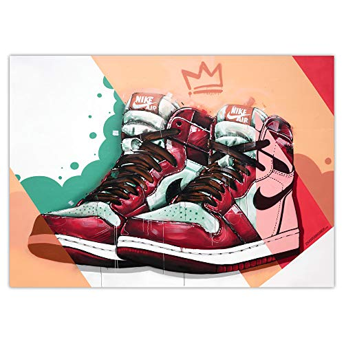 JosHoppenbrouwers Nike Air Jordan 1 - Póster de graffiti (70 x 50 cm)