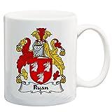 Ryan Coat of Arms/Ryan Family Crest 11 Oz Ceramic Coffee/Cocoa Mug by Carpe Diem Designs, Made in the U.S.A.