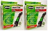 Slime 2 Tubos Interiores Bike de 29 x 1,85-2,125, válvulas Schrader para Bicicleta, con Relleno Relleno, Junta y reparación instantáneas