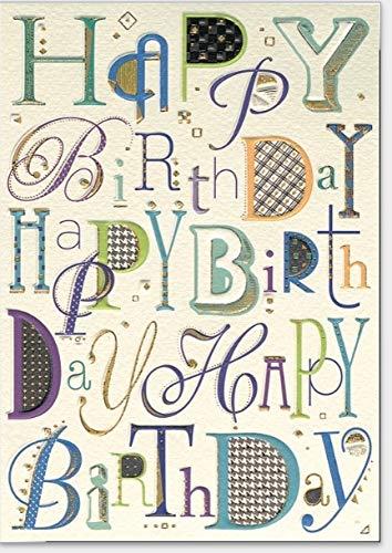 Hochwertige Geburtstagskarte