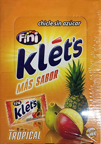 CHICLES SIN AZÚCAR TROPICAL KLETS 200 UDS