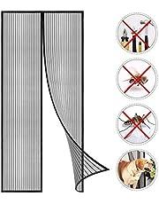 Coedou Magnetyczna moskitiera na drzwi, ochrona przed owadami, 80 x 210 cm, zasłona magnetyczna jest idealna na drzwi balkonowe, drzwi do piwnicy i drzwi tarasowe, dziecinnie łatwy montaż bez wiercenia, nie skracają się