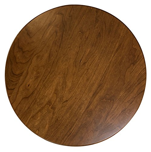 Wood Lazy Susan Turntable – Solid Wooden Spinning Kitchen Table Organizer – Scratch Resistant Felt Bottom – 360 Degree Smooth Rotation Swivel (16' Diameter, Rustic Cherry Wood, Seely Stain)