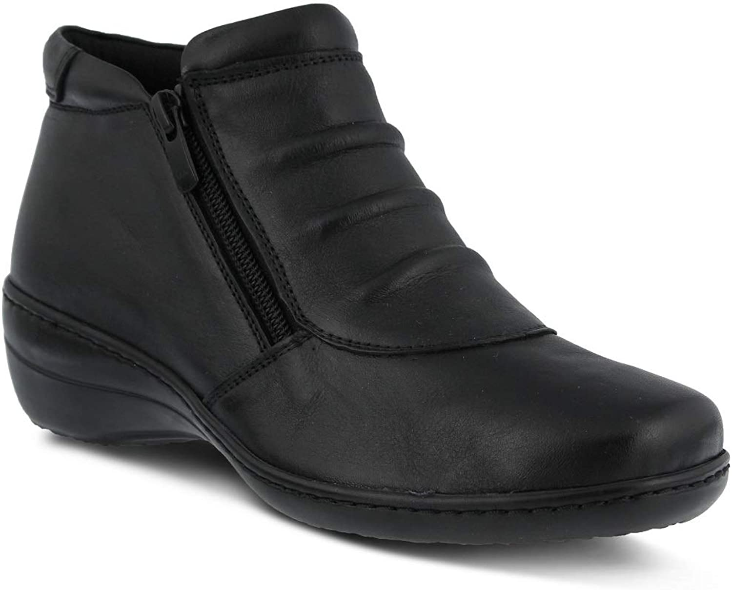 Spring Step Women's Briony Bootie   color Black   Leather Bootie