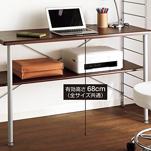 『ニッセン ラック付ワーキングテーブル/サイズ【122cm幅高さ165cm】 / 色【白】』の4枚目の画像
