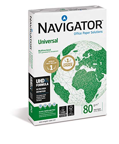 Navigator Universal-Papier, multifunktional, geriffelt, 80 g/m², A3, Weiß, 500 Blatt