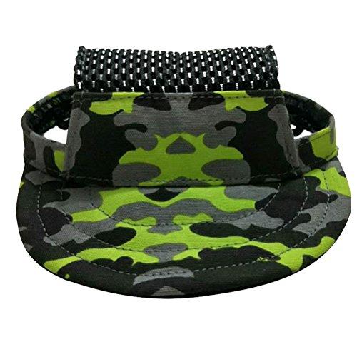 UEETEK Hunde Baseball Cap Mütze mit Ohr Löcher für Haustier Hunde Katze - Größe S