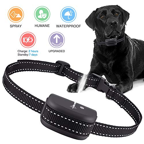 Red Spray Bark Collar PAWONIT Rechargeable Spray Bark Stop Collar,Water-Resistant No Bark Spray Training Collar,Safe /& Humane Citronella Anti Bark Device for Small Medium Large Dogs,No Shock Collar