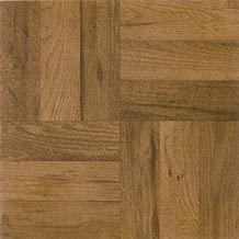 Achim Home Furnishings FTVWD22520 Nexus 12-Inch Vinyl Tile, Wood 3 Finger Medium Oak Parquet, 20-Pack
