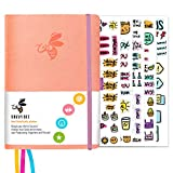 Savvy Bee Undated Planner – Monthly, Weekly, & Daily Planner to Achieve Goals, Set Plans, Increase Productivity & Self Mastery – Hardcover Journal with Free E-Books and 5 Sheets of Stickers (Pink)
