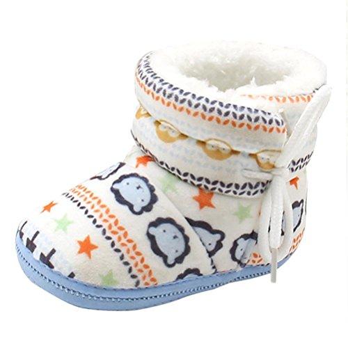 Longra Babyschuhe Baby Stiefel Schuhe weiche Sohle Stiefel Prewalker warme Lauflernschuhe Krippeschuhe (12CM, 1-12 Monate Baby)