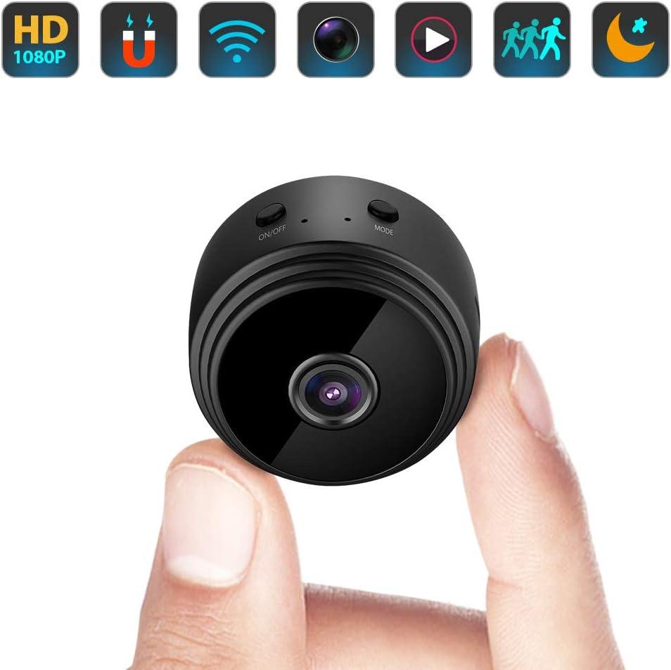Amazon.com: Mini cámara espía oculta WiFi pequeña cámara de vídeo  inalámbrica con Full HD 1080P audio visión nocturna sensor de movimiento  detección soporte tarjeta SD para iPhone Android seguridad niñera  vigilancia cam :