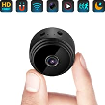 Mini Hidden Spy Camera WiFi Small Wireless Video Camera Full HD 1080P Audio Infrared Night Vision Motion Sensor Support SD Card for iPhone Android Video Detection Security Nanny Surveillance Cam