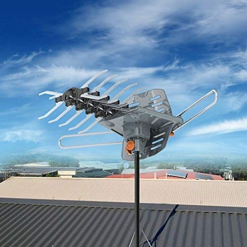 LAVA Outdoor HDTV Antenna, 150 Miles Ranges, HD-2605, 4K 1080P TV Remote Control Rotation UHF/VHF Reception with Built-In Low Noise Amplifier