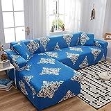 Allenger Elástica Cubierta de Asiento,Fundas de sofá elásticas seccionales para sofá en Forma de L, diseño de Funda para sillón de Esquina, 8_90-140cm