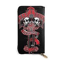 ガンズ?アンド?ローゼズ Guns N Roses 長財布 ラウンドファスナー ロングウ 小銭入れ レディース 本革 大容量 多機能 財布