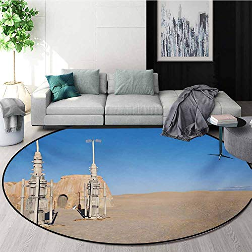 Find Discount RUGSMAT Galaxy Computer Chair Floor Mat,Illustration of Town of Famous Movie Set On Th...