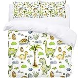 TIZORAX Single Bedding Duvet Cover Set - Baby Dinosaur And Egg Tortoise Stone 3 Piece Microfiber Comforter Set Quilt Cover and 2 Pillow Shams for Men Women