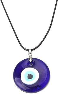 liumiKK Turkish Evil Eye Protection Blue Eyes Glass Lucky Charm Pendant Necklace Unisex