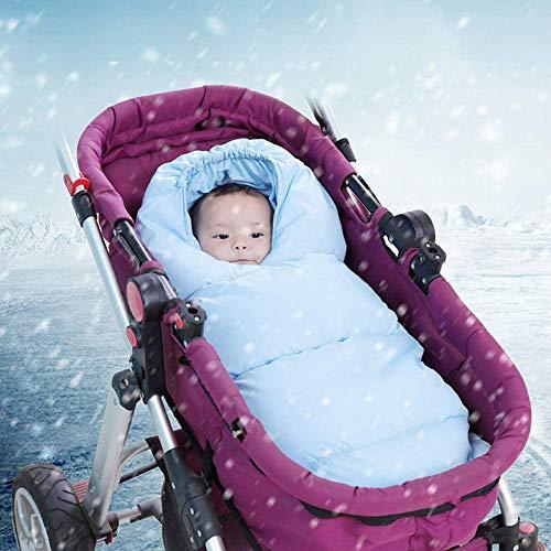 JSJE Bebe Universal Baby Winter Fleece Liner Bolso de Dormir Caliente, Cochecito Universal Footmpuffin Cubierta a Prueba de Viento Caliente, para Cochecito de Asiento de Blue